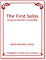 First Solos: Songs by Women Composers